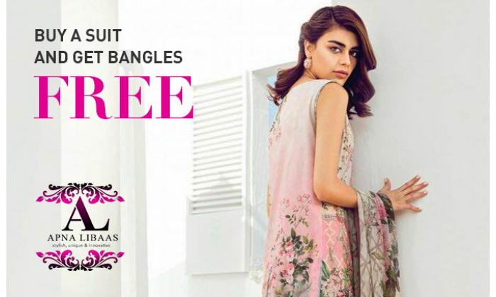 Buy a suit and get bangles free. image