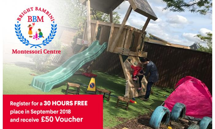 Register for a 30 Hours Free place in September 2018 and receive £50 Voucher image