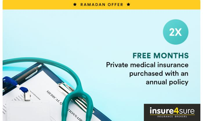2 Free Months Private Medical Insurance purchased with an annual policy image