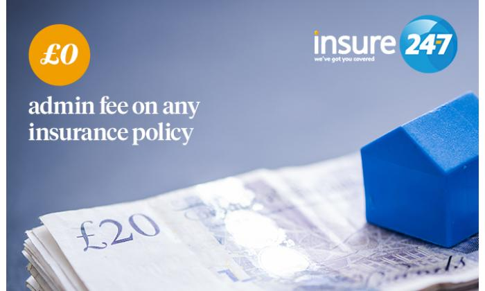 £0 admin fee on any insurance policy image