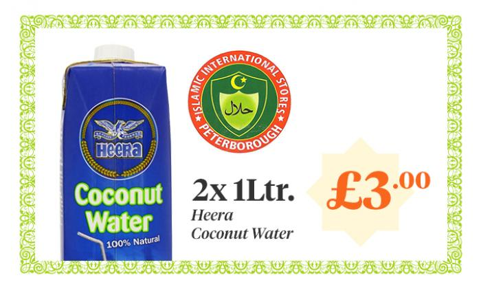 HEERA Coconut Water - 1Ltr - 2 for £3.00 image