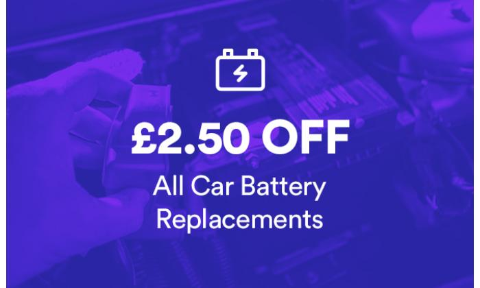 £2.50 Off All Car Batteries image