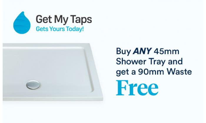 Buy ANY 45mm Shower Tray and get a 90mm Waste FREE image