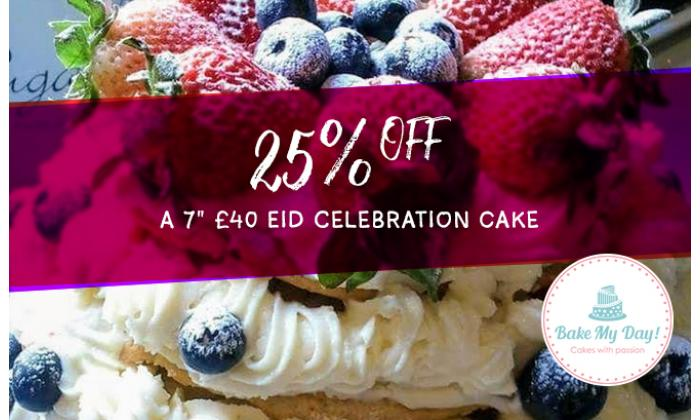 "25% off on a 7"" Eid Celebration Cake image"