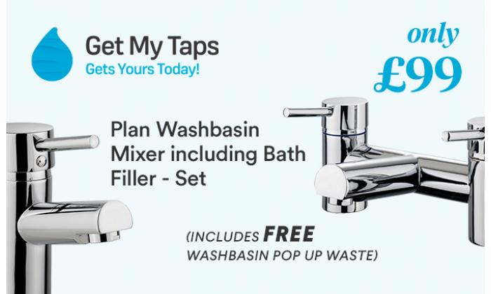 Plan Washbasin Mixer including Bath Filler - Set, Only £99 image