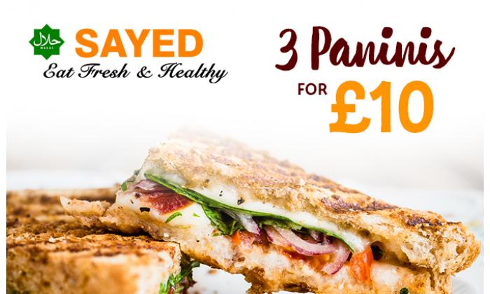 Buy 3 Panini's for £10 image