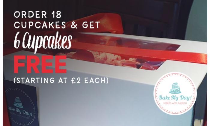 Order 18 Cupcakes & get 6 Cupcakes Free image