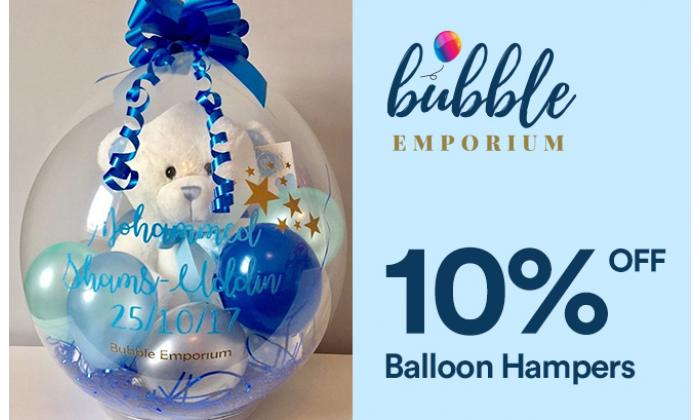 10% Off Balloon Hampers image