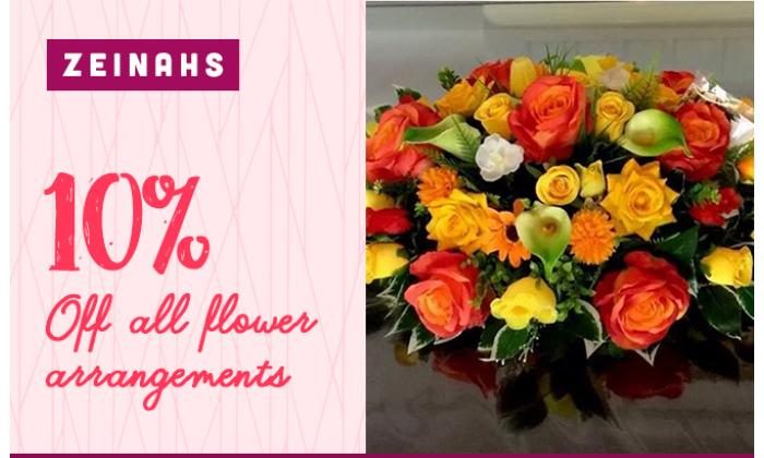 10% off all flower arrangements image